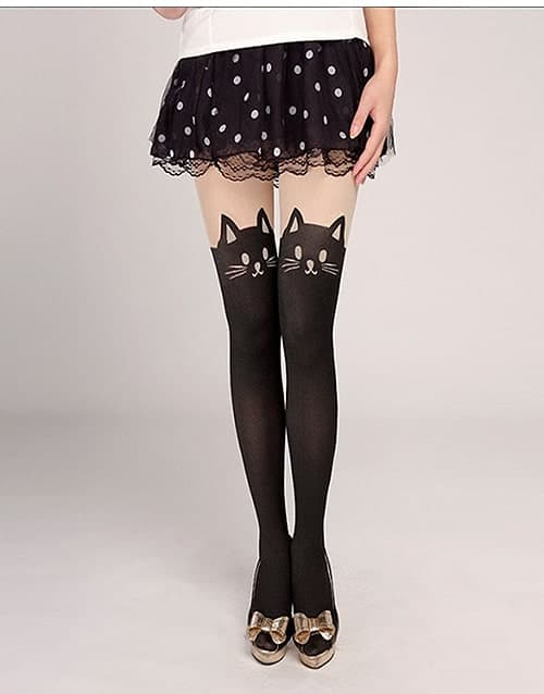 40e5521df8c Black Cat Tights Stockings